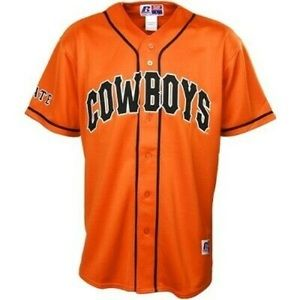 Russell Athletic Team Issue orange Cowboys jersey